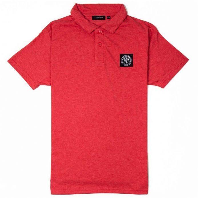 "Senlak ""Cenric"" Polo Shirt - Heather Red"